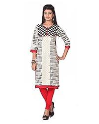 Namah Women's Cotton Regular Fit Kurti (D83-XXL , Multi-Colour, XXL)