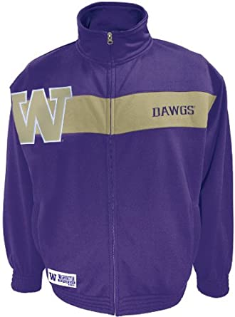 NCAA Mens Washington Huskies Victory March Full Zip Jacket by SECTION 101 Majestic