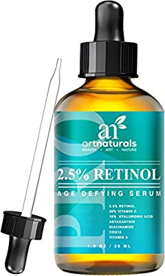 Best Cheap Deal for Art Naturals Enhanced Retinol Serum 2.5% with 20% Vitamin C & Hyaluronic Acid 1oz-Best Anti Wrinkle, Anti Aging Serum for Face & Sensitive Skin -Clinical Strength Organic Ingredients -Night Therapy from ArtNaturals - Free 2 Day Shippin