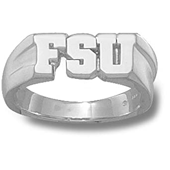 Florida State Seminoles FSU 5 16 Mens Ring Size 11 - Sterling Silver Jewelry by Logo Art