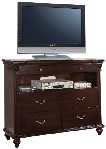 Acme 21557 Cleveland Tv Console, Dark Cherry front-961387