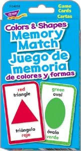 Shapes & Colors Memory Match/Juego de memoria de colores y formas Challenge Cards