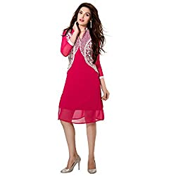 Fashion Bucket Pink colored georgette kurti.