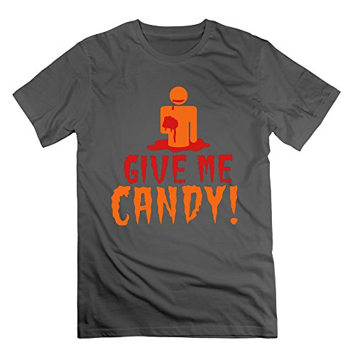 Men's GIVE ME CANDY Short Sleeve T-Shirt DeepHeather M (Cartman Voice Changer)