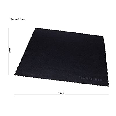 TERRAFIBER Premium Quality Microfiber Cleaning Cloth Packages for Tablets Cell Phones Eyeglasses Camera Lenses Jewelry and Other Delicate Surfaces (Pack of 6)