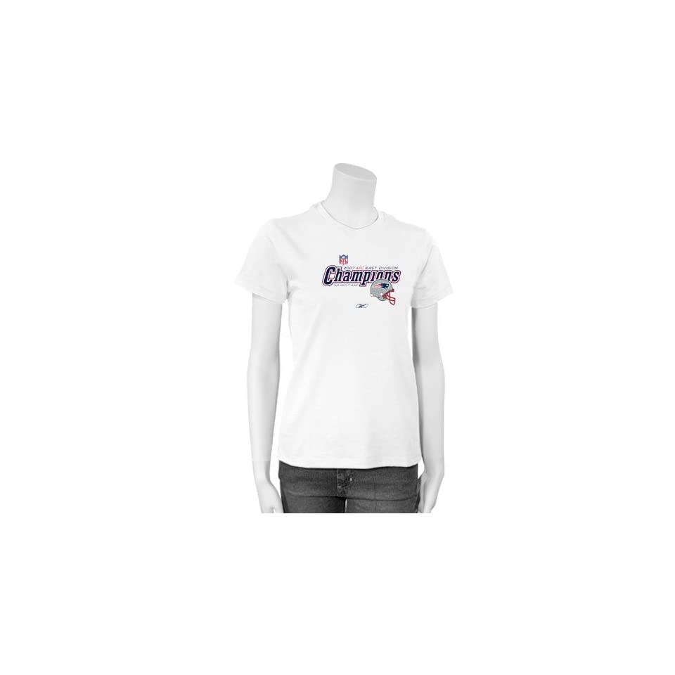972b4099c Reebok New England Patriots Ladies White 2007 NFC East Division Champions  Locker Room T shirt