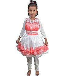 Motley Girls' Frock (4-5pf_2-3 Years_Pink _2-3 Years)