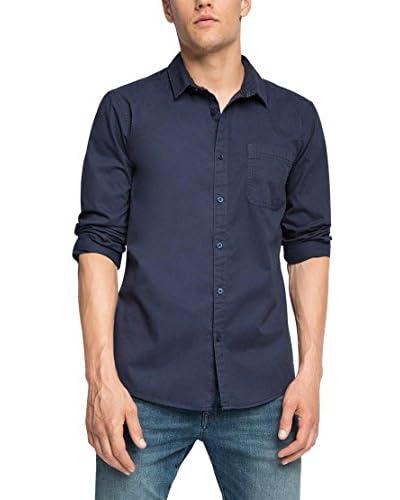edc by ESPRIT Camisa Hombre Azul Oscuro