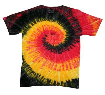 Tie Dye Adult & Children T-Shirts - 100% Cotton - Short Sleeve - Kigston (Kids 14-16, Kingston) front-655010