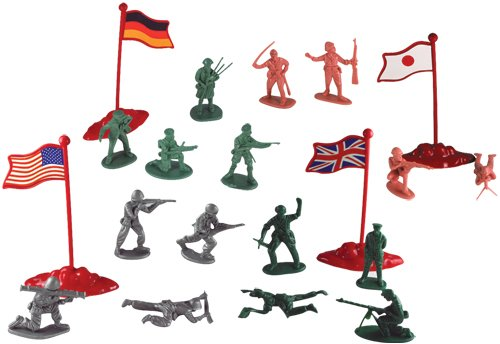 Military Figures in Carry Bucket