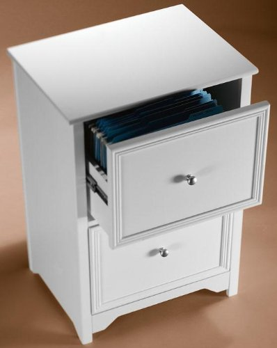 white locking file cabinet 2