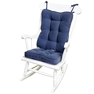 Greendale Home Fashions 5160 Denim Standard Rocking Chair Cushion Hyatt Fabr