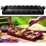 Emile Henry BBQ Ceramic Kabab Grilling Stone with Skewers: black