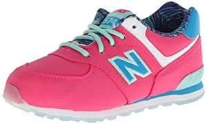 New Balance KL574 Running Shoe (Infant/Toddler),Pink/Blue,4 W US Toddler