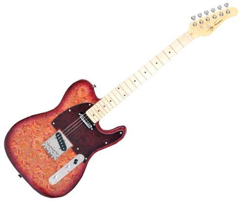 best buy new pro jay turser paisley print tele electric guitar on sale guitars. Black Bedroom Furniture Sets. Home Design Ideas