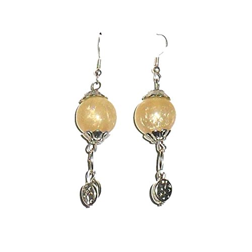 Beadworks Beadworks Resin Dangle & Drop Earings For Women - Beige(For Women) (Beige\/Sand\/Tan)