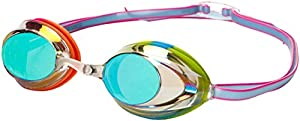 Speedo Vanquisher 2.0 Mirrored Swim Goggle, Rainbow