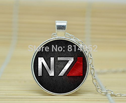 SunShine Day Glass Cabochon Necklace Mass Effect N7 Alliance Necklace A3081