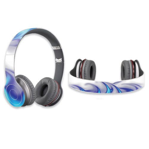 Mightyskins Protective Vinyl Skin Decal Cover For Dr. Dre Beats Solo Hd Headphones Sticker Skins Blue Fire