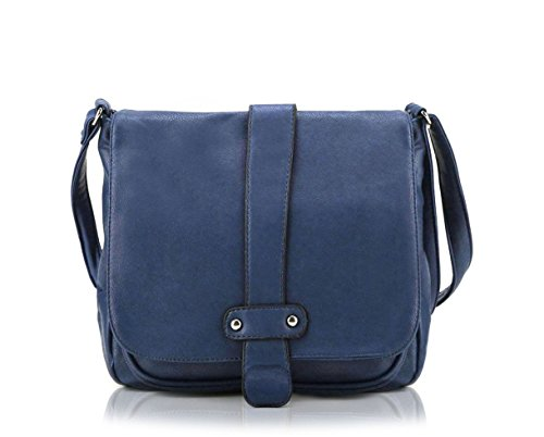 Scarleton Accent Strap Flap Crossbody Bag H153919 - Navy (Blue Crossbody Purse compare prices)