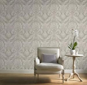 Gran Deco Paradise Damask Wallpaper - Taupe from New A-Brend