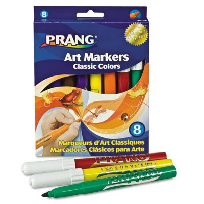 Prang Instant Watercolor Markers Conical Tip SKU-PAS439295