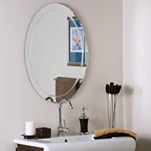 Amazon Frameless Oval Wall Bathroom Mirror Wall