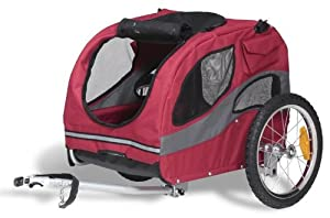 Solvit 62303 Track?r Bicycle Pet Trailer, Medium
