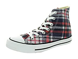 Converse Unisex Chuck Taylor Plaid Black/Red/Wh Basketball Shoe 6 Men US / 8 Women US