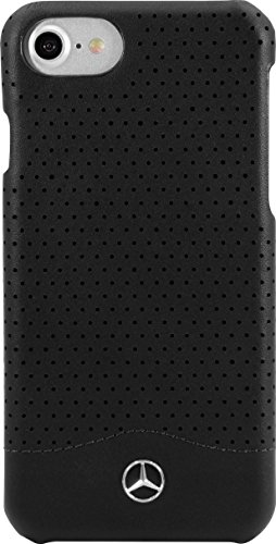 the-kase-mercedes-benz-pure-line-coque-en-cuir-perfore-veritable-pour-iphone-7-noir