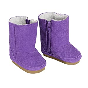 Amazon.com: Doll Boots in Purple Suede fit for American