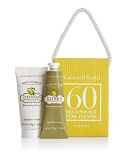 Crabtree & Evelyn 25g Hand recovery and 25g Hand Therapy Citron Full 60 Second Fix Kit