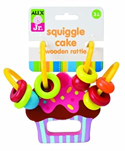 Wooden Cupcake Rattle by AlexToys