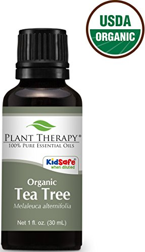USDA Certified Organic Tea Tree (Melaleuca) Essential Oil. 30 ml (1 oz). 100% Pure, Undiluted, Therapeutic Grade.