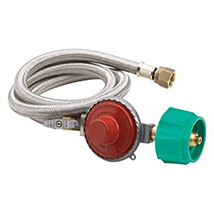Bayou Classic Bayou Classics 48 in. Stainless Steel Braided Hose with Regulator - 20 psi from Barbour International Inc