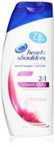 Head & Shoulders Smooth & Silky 2-In-1 Dandruff Shampoo + Conditioner 23.7 Fl Oz (Pack of 2)