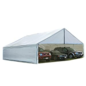 ShelterLogic 27278 FR Rated Canopy Replacement Cover for 2-3/8-Inch Frame, 24 by 30-Feet, White