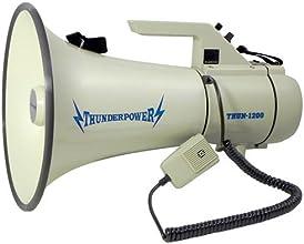 Extra Loud Heavy Duty Megaphone - ThunderPower 1200 - 45 Watts of Power
