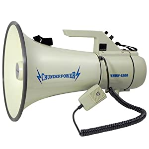 Extra Loud, Heavy Duty Megaphone - ThunderPower 1200 - 40 Watts of Power by ThunderPower