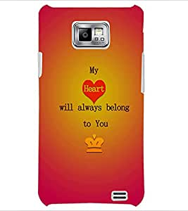 PrintDhaba Quote D-2865 Back Case Cover for SAMSUNG GALAXY S2 (Multi-Coloured)