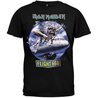 Iron Maiden - Mens Flight 666 T-shirt - Small Black