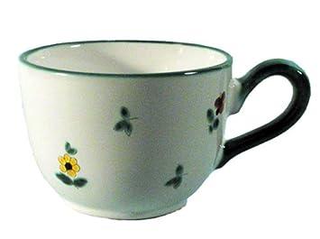 Gmundner Keramik /'Streublumen/' Becher mit Henkel 0,24 l