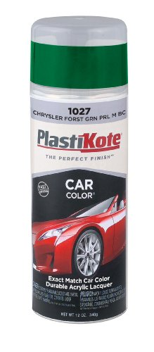PlastiKote 1027 Chrysler Forest Green Pearl Metallic Base Coat Automotive Touch-Up Paint - 11 oz.