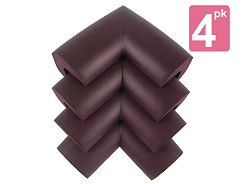 My-Baby-Table-Corner-Guards-8-Pcs-of-Dark-Brown-Flexible-Babyproof-Furniture-Bumper-Corner-Cushion-Guard-with-3-M-Adhesive-Tape-For-Quick-Installation-Soft-NBR-Material-2522