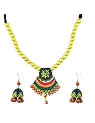 """ARTWOOD """"Go Green With Envy"""" Bead-Fusion 3-piece TerraCotta Jewellery Set"""