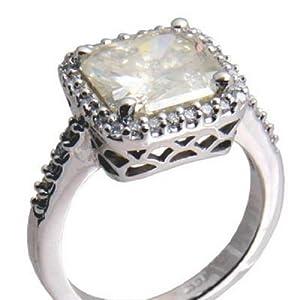 4.28ctw Radiant Diamond Engagement Ring, 14K White Gold