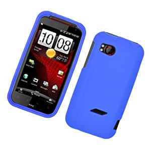 Eagle Cell SCHTC6425S02 Barely There Slim and Soft Skin Case for HTC Rezound/ThunderBolt 2 6425 - Retail Packaging - Blue