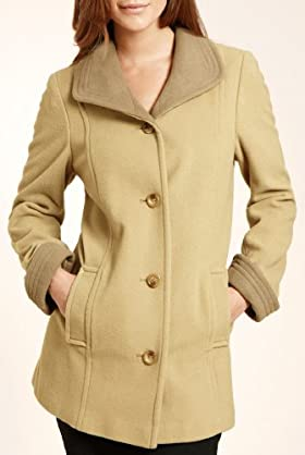 Classic Collection New Wool Rich Two Tone Mouflon Coat [T58-5748-S]