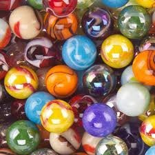 "Mega Marbles SET OF 12 ASSORTED 0.625"" (approx) SHOOTER MARBLES"