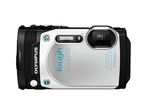 Olympus TG-870 Tough Waterproof Digital Camera (White) (Olympus Waterproof Digital Camera compare prices)